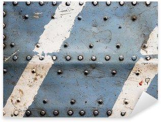 Vinilo Pixerstick Textura de metal con remaches, fuselaje del avión