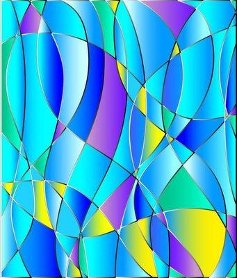 Pixerstick para Todas las Superficies Textura del vidrio manchado, tono azul, vector de fondo