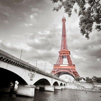 Pixerstick para Todas las Superficies Torre Eiffel monocromo coloración selectiva
