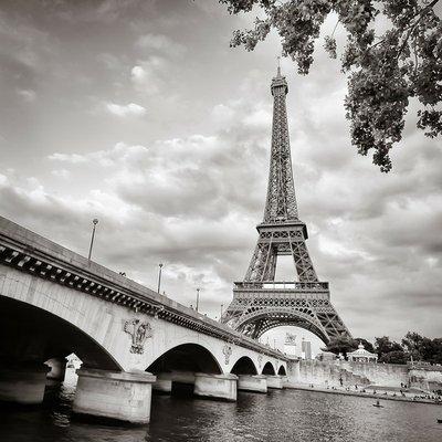 Pixerstick para Todas las Superficies Torre Eiffel vista desde el río Sena formato cuadrado