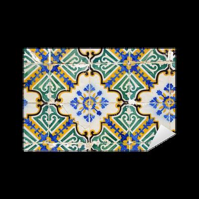 Vinilo pixerstick traditional portuguese tiles azulejos for Azulejos pvc autoadhesivos