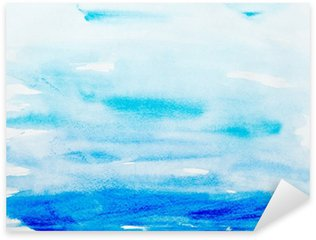 Vinilo Pixerstick Trazos de color acuarela, arte, pintura