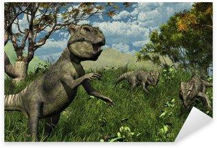 Pixerstick para Todas las Superficies Tres Archaeoceratops Dinosaurios Exploración - 3d render