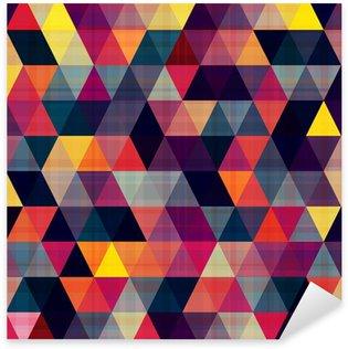 Vinilo Pixerstick Triángulo fondo sin fisuras