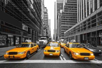 Pixerstick para Todas las Superficies TYellow taxis en Nueva York, EE.UU..