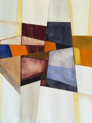 Pixerstick para Todas las Superficies Una acuarela abstracta modernista