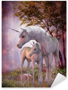 Vinilo Pixerstick Unicorn Mare y potro