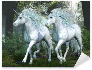 Vinilo Pixerstick Unicornio Elm Bosque