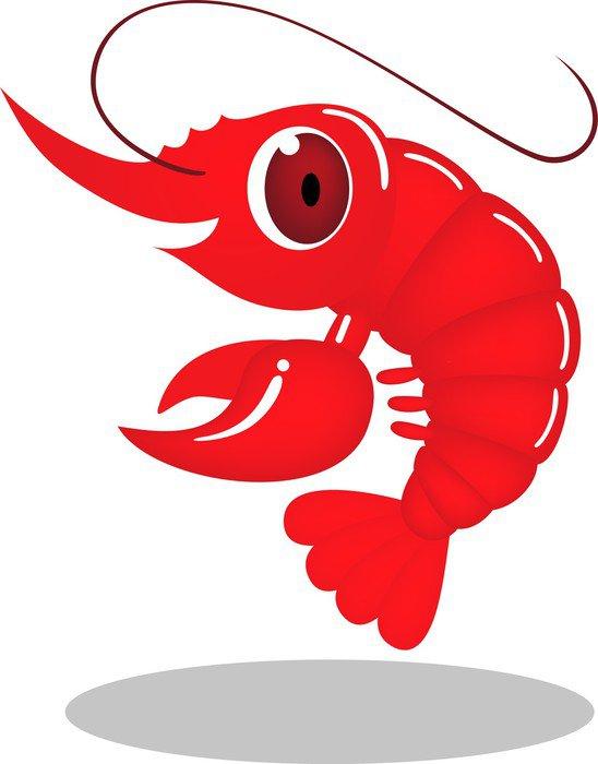Pixerstick para Todas las Superficies Vector de dibujos animados de gambas - Animales marinos