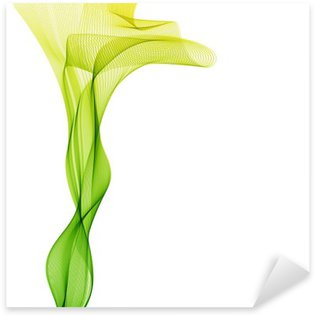 Vinilo Pixerstick Vector de onda verde vertical de las líneas de fondo abstracto liight