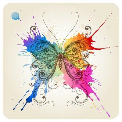 Pixerstick para Todas las Superficies Vector decorativo mariposa