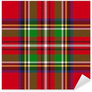 Vinilo Pixerstick Vector patrón de tela escocesa de tartán sin fisuras