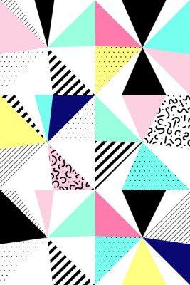Pixerstick para Todas las Superficies Vector patrón geométrico sin fisuras. Estilo de Memphis. 80. abstractos.