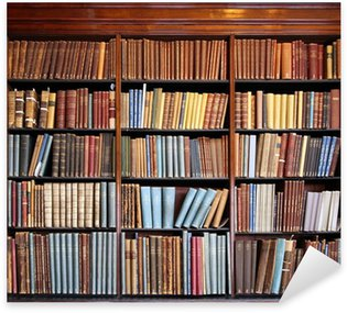 Vinilo Pixerstick Vieja estantería de la biblioteca