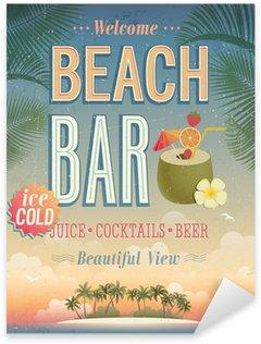Pixerstick para Todas las Superficies Vintage cartel Beach Bar.