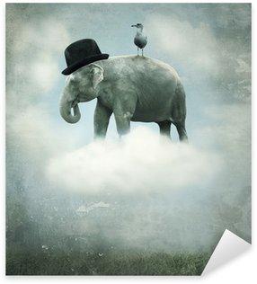 Pixerstick para Todas las Superficies Vuelo de la fantasía elefante
