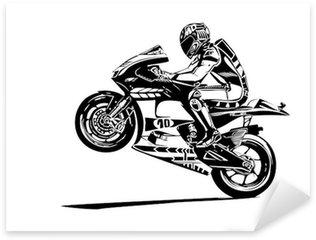 Vinilo Pixerstick Wheelie moto gp