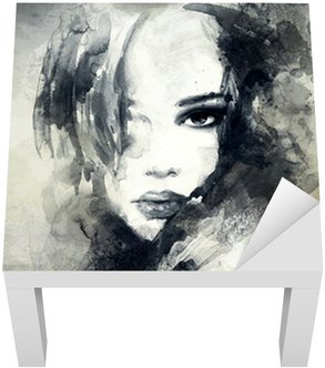 Vinil para Mesa Lack abstract woman portrait