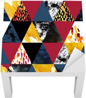 Vinil para Mesa Lack Outono inspirado aquarela padrão sem emenda
