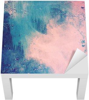 Vinil para Mesa Lack Rosa e fundo abstrato azul
