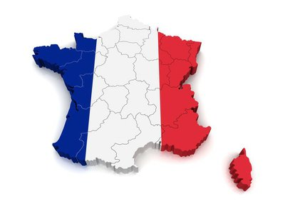 3D Map of France