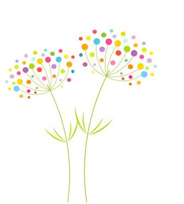 Wall Decal Abstract flowers