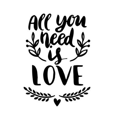 Wall Decal All you need is LOVE
