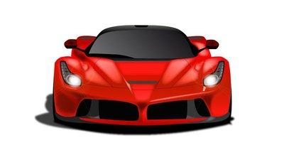 Auto Sportiva rossa metallizzata