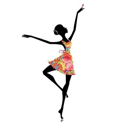 ballerina in a flower dress