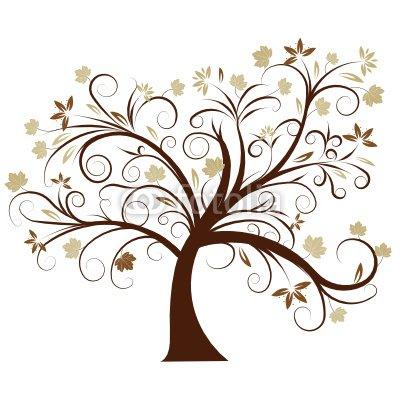 beautiful abstract vector autumn tree design
