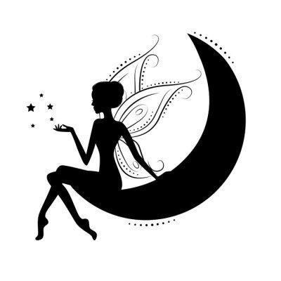 Beautiful fairy silhouette.