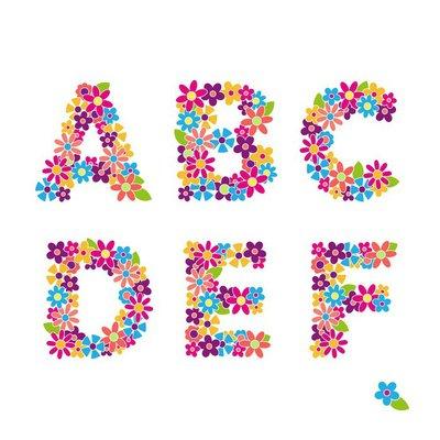 Beautiful floral letters. Part 1