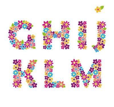 Beautiful floral letters. Part 2