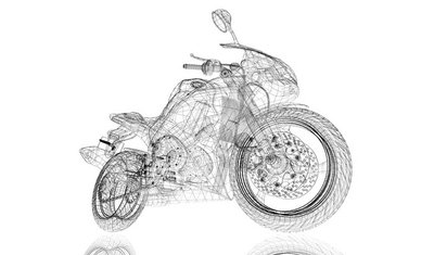 bike, motorcycle, 3D model