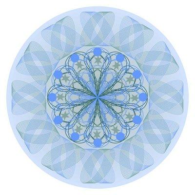 Blue mandala for calming