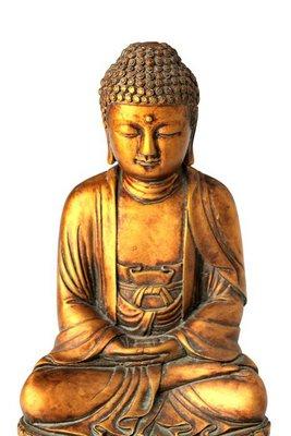 bouddha détouré sur fond blanc