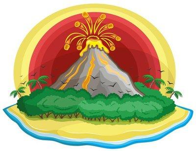 Cartoon volcano.
