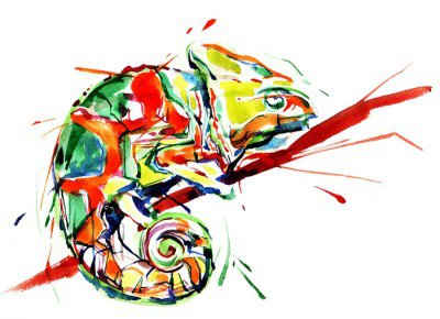 Wall Decal chameleon