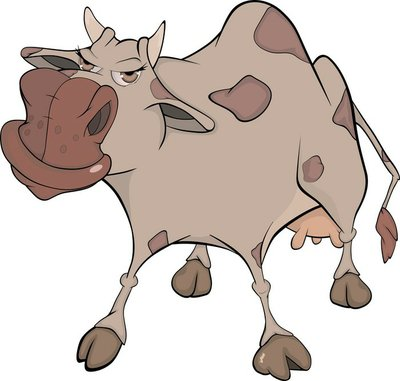 Cheerful cow. Cartoon