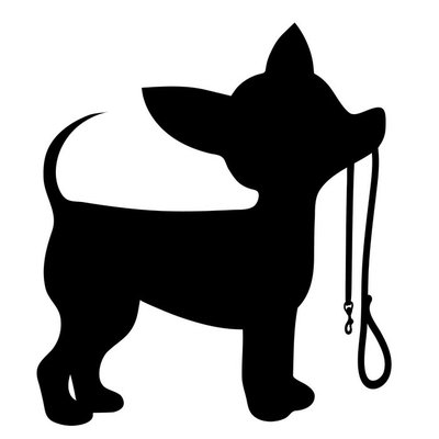Wall Decal Chihuahua Leash