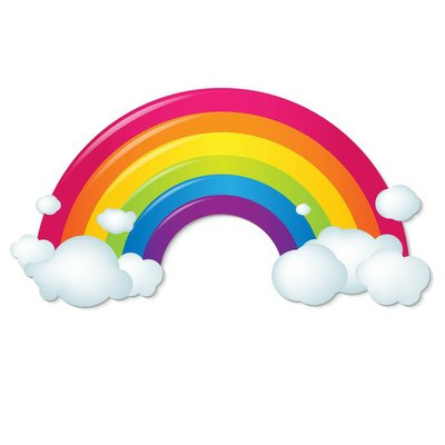 Color Rainbow With Clouds