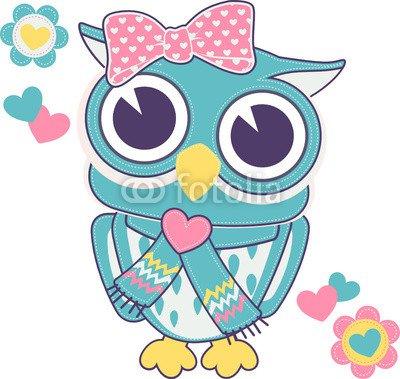 cute baby girl owl