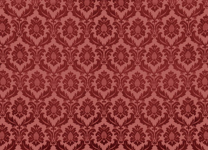 Damask wallpaper Wall Decal • Pixers® • We live to change