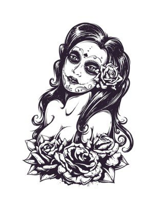 Day of dead sexy girl