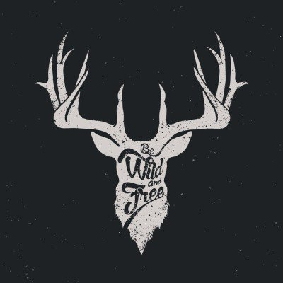 Deer be wild and free invert