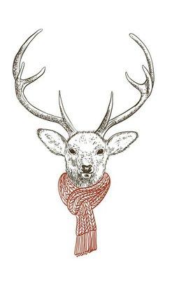 Deer in scarf