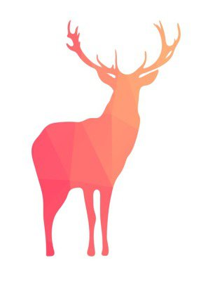 Deer silhouette of geometric shapes