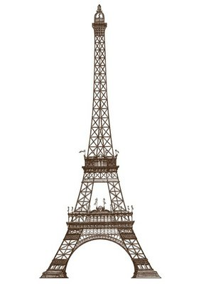 detailed illustration of the Eiffel Tower, Paris