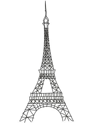 doodle Eiffel tower