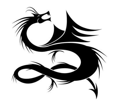 Dragon tattoo vector illustration for your design